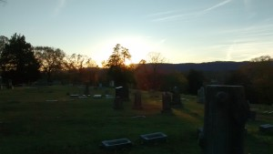 cemetery sunset november