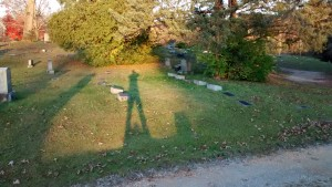 cemetery sunset shadow