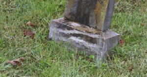 grave stone damage